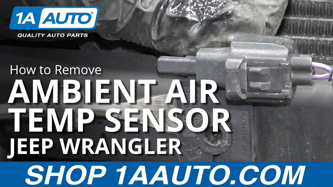 How to Replace Ambient Air Temp Sensor 06-18 Jeep Wrangler