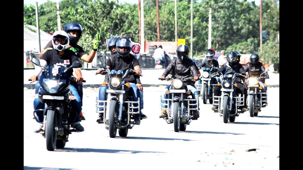 Bajali bikers united st anniversary ride youtube