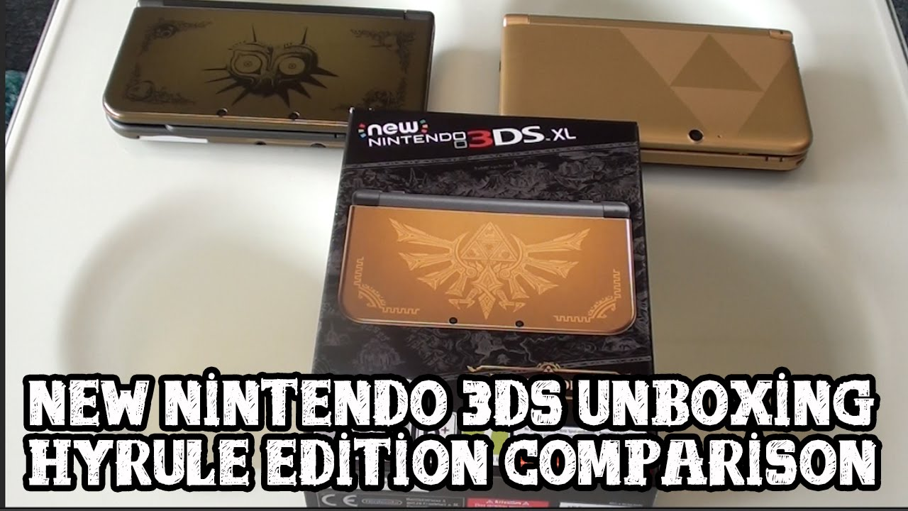 unboxing new nintendo 3ds xl hyrule edition youtube. Black Bedroom Furniture Sets. Home Design Ideas