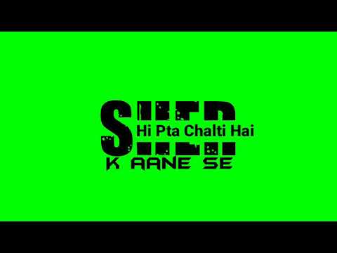 new-attitude-imovie-green-screen-status- -ujjwal-green-screen- 