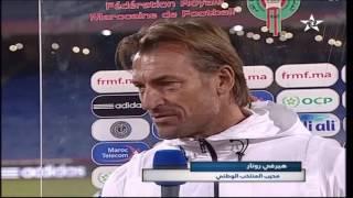 ملخص مباراة  المغرب 2 - 1  توغو بالإضافة الى تصريح هيرفي رينارد