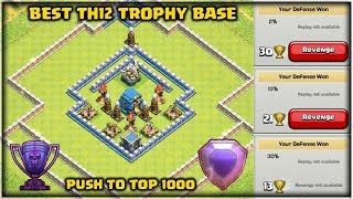 Best Th12 Trophy Base with 3 Infernos | Push to Top 1000 | Clash of Clans