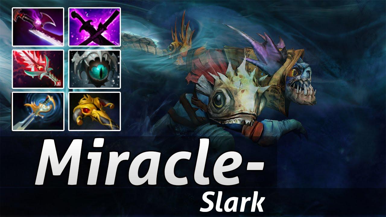 miracle pro build slark 9000 mmr gameplay dota 2 epic moments