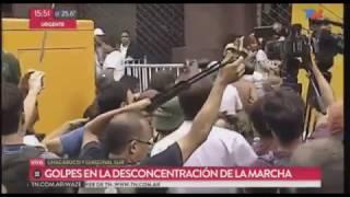 PABLO MOYANO HUYENDO DE LA MARCHA DE LA CGT