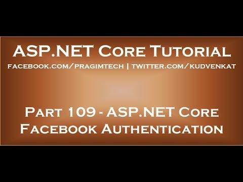 ASP NET Core Facebook Authentication