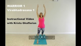 Warrior 1 - Virabhadrasana 1 Instructional Video