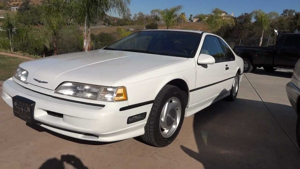 1989 Ford Thunderbird Sc Super Coupe Supercharged 3 8 V6 Mts Youtube
