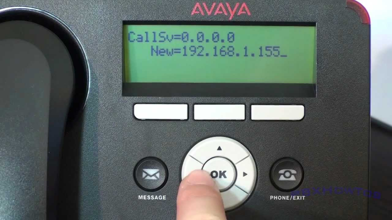 installation and configuration of avaya 1600 9600 series ip rh youtube com Avaya 9508 Avaya Phone System User Manual