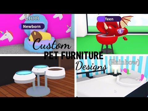 10 Custom PET FURNITURE Design Ideas & Building Hack (Roblox Adopt me) | Its SugarCoffee