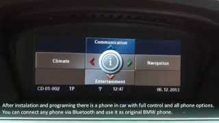 USB, iPod, aux-in, audio adapter with Bluetooth Dension GW500 for BMW E60 E61 2008