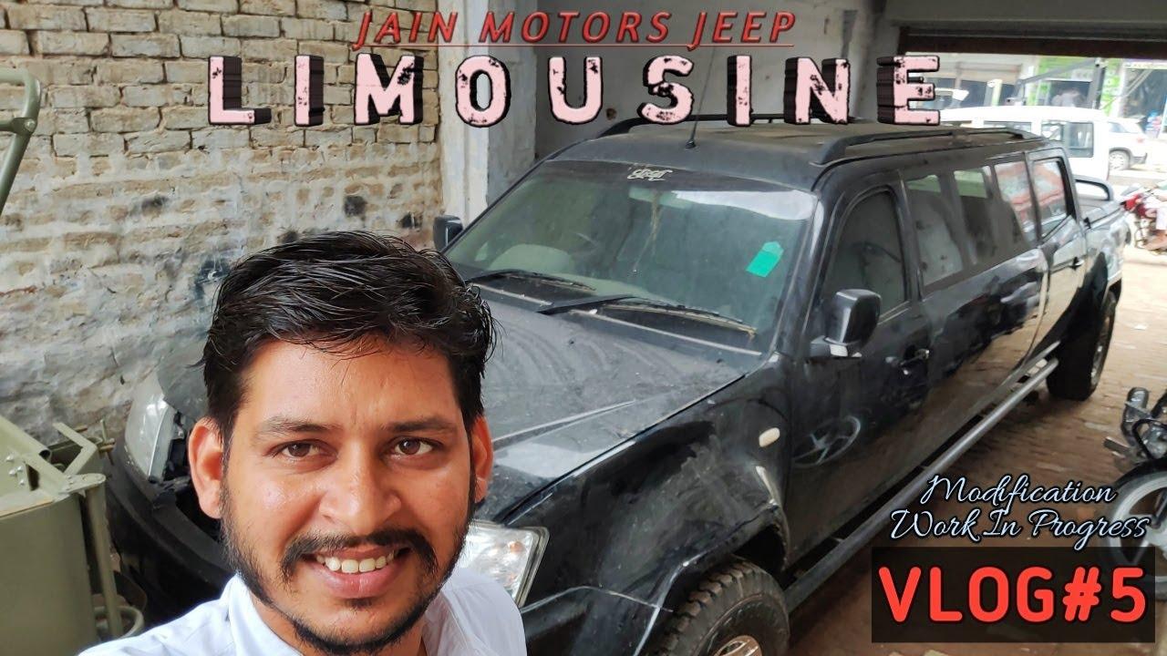 LIMOUSINE MODIFICATION WORK IN PROGRESS ...JAIN MOTORS JEEP@8199061161