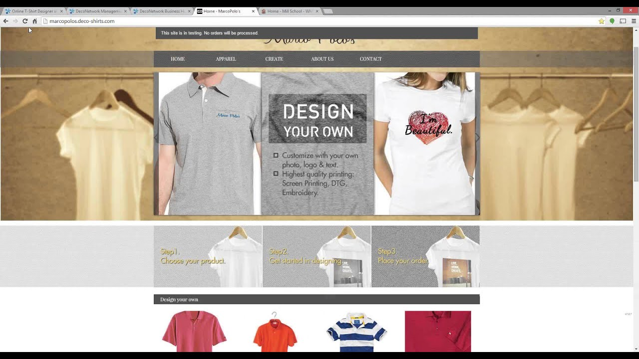 Get Your Custom T Shirt Business Online With Deconetwork Youtube