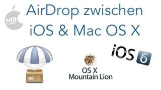 AirDrop zwischen iOS & Mac OS X