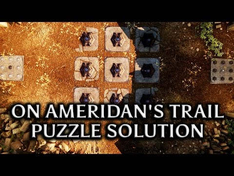 Dragon Age: Inquisition - Jaws of Hakkon DLC - 'On Ameridan's Trail' Puzzle solution