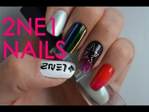 2ne1 kpop nail art - step-step