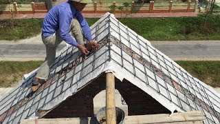 Traditional Construction Techniques Craft Still Being Used - Building Sloping Roof Concrete