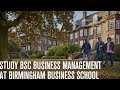 Study BSc Business Management at Birmingham Business School