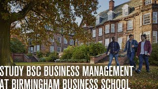 Study BSc Business Management at Birmingham Business School