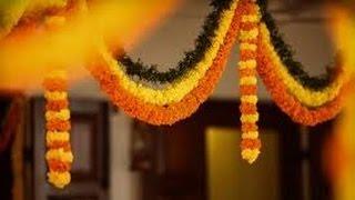 Diwali Festival Special Marigold Flower Toran Door Hanging