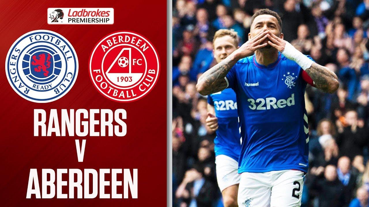 Rangers 2 0 Aberdeen Tavernier Penalties Seal 2nd Place For Gers Ladbrokes Premiership Youtube