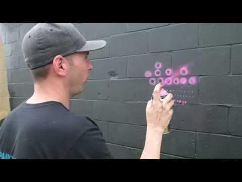 Spray Paint Techniques: Dots...