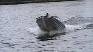 Speed Boat Does Wheelies on water