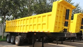 TITAN 2 axles 3 axles 40 cubic meter tipper trailer with 30 ton 40 ton capacity