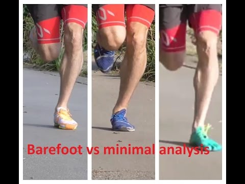 Barefoot vs minimal running shoe analysis review - Vibram FiveFingers, New Balance Minimus, MV2