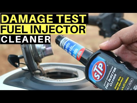 STP FUEL INJECTOR CLEANER DAMAGE TEST & REVIEW ON THE DOMINAR 400, HOW TO USE FUEL ADDITIVE