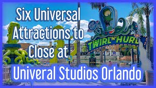 Six Attractions Closing at Universal Studios Orlando
