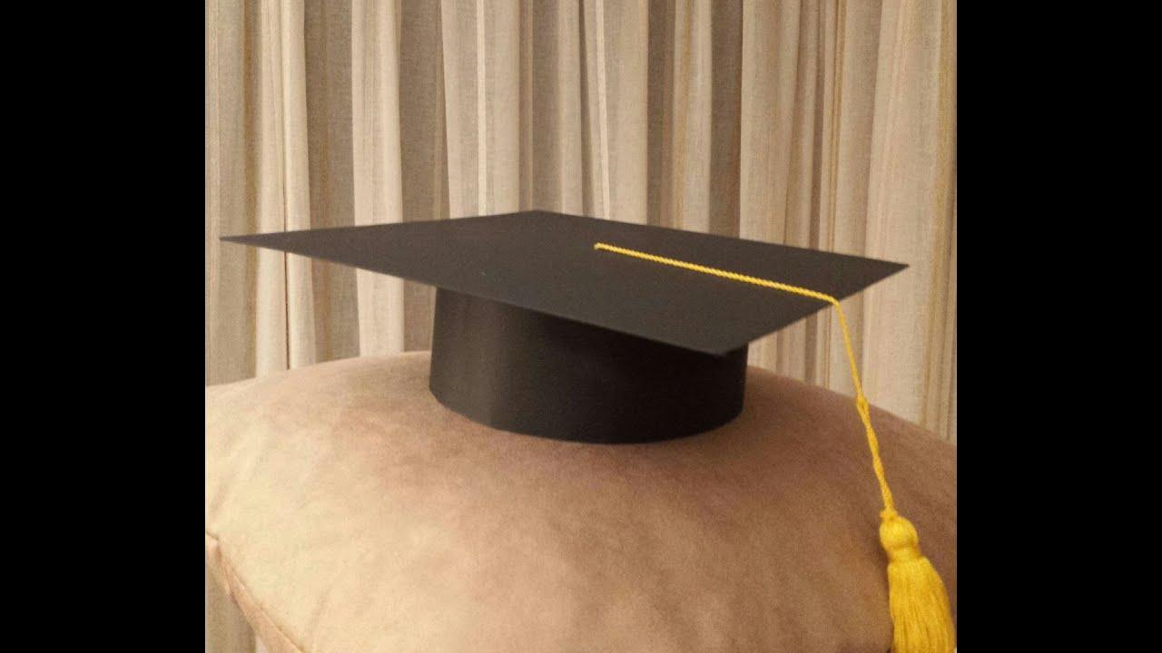 Cómo hacer un birrete de graduación escolar de cartulina. Haw to make graduation cap , YouTube