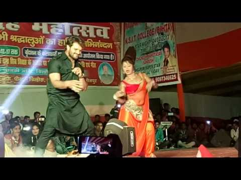 Khesari lal and sangita singh dancer ka super heat dane stage show