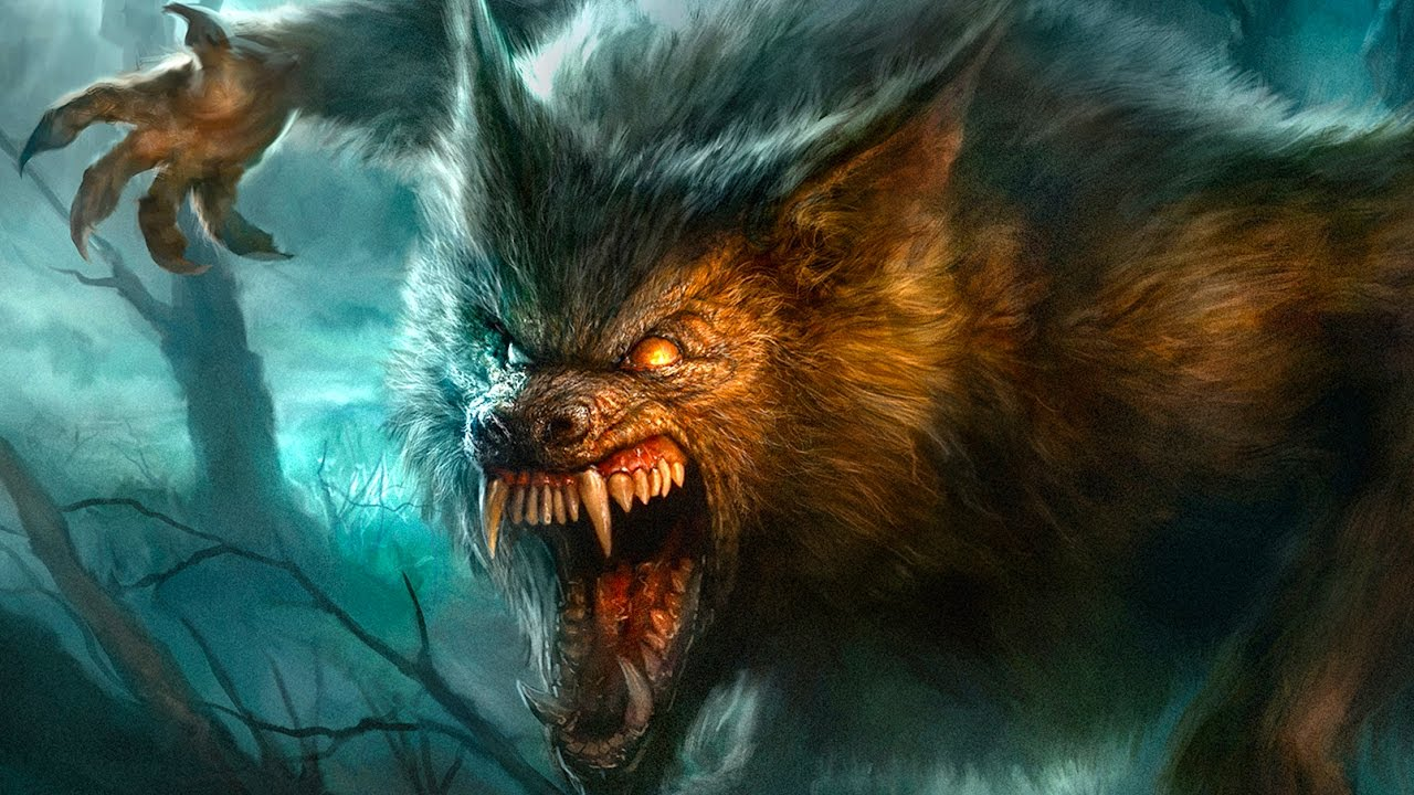 werewolf lurks again digital painting time lapse youtube