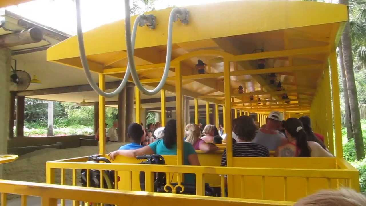 Serengeti railway ride around Busch Gardens, Tampa, Florida - YouTube