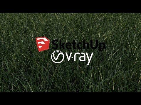 sketchup-vray-3.4-Çim-yapımı