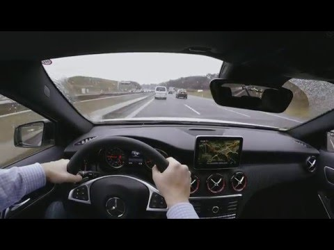 MB AMG A45  4matic 381 PS on Autobahn / great sound - Performance Exhaust