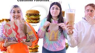 EATING EVERYTHING WE LOOK AT FOR 24 HOURS CHALLENGE!