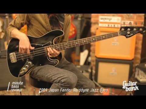 2004 Japan Fender Aerodyne Jazz Bass  — One Minute Bass Review