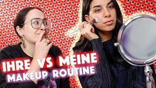 Ihre vs meine Makeup Routine 😆not makeup addict Freundin 🔥Hatice Schmidt