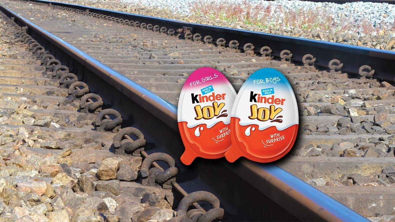 Train Vs Kinder Joy Surprise Egg Test