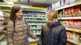 В продуктовом магазине (видео моделирование)