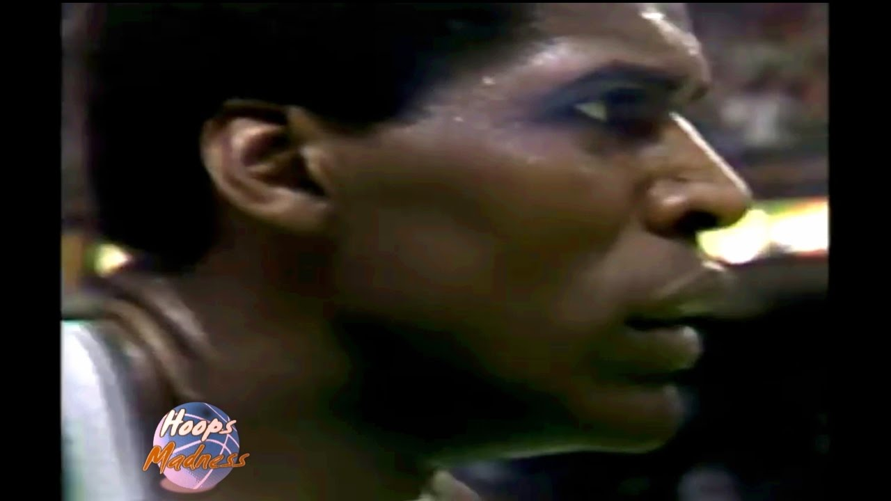 Robert Parish Amazing Dunk on Tree Rollins 1988 Playoffs