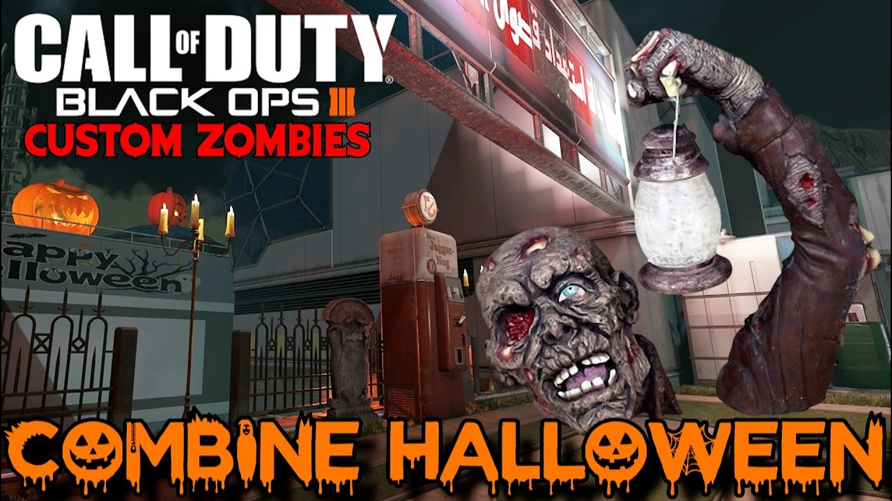 HALLOWEEN ZOMBIES ON COMBINE! - BLACK OPS 3 CUSTOM ZOMBIES MAP/MOD