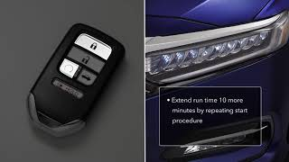 How to Use Remote Engine Start on 2018 Honda Accord