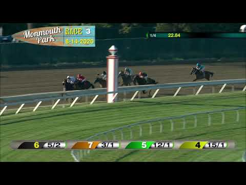 video thumbnail for MONMOUTH PARK 08-14-20 RACE 3