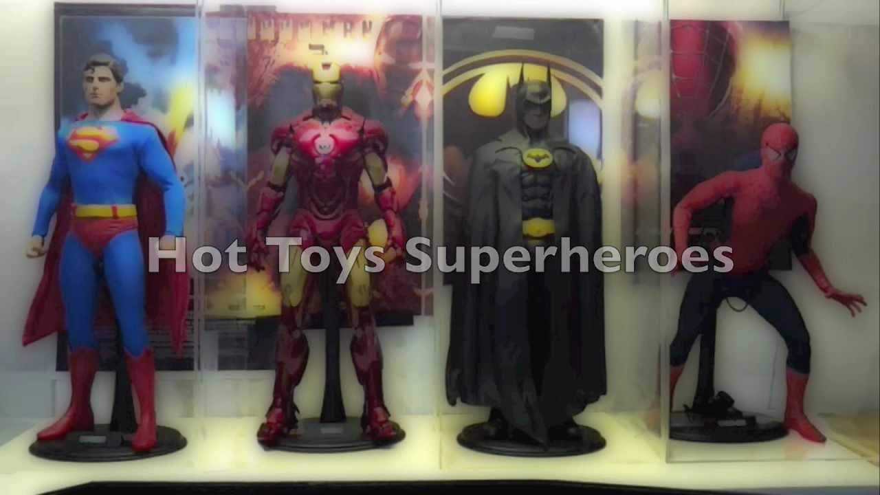 Hot Toys Superheroes Superman Ironman Batman Spider