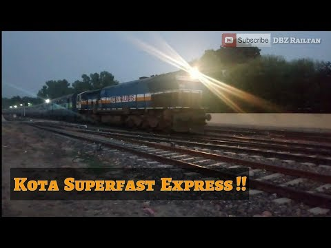 Train from Rajasthan !! 22982 Kota SuperFast ! SGNR to KOTAJunction Indian Railways