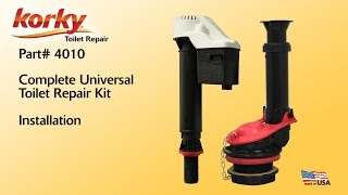 Complete Universal Toilet Repair Kit Install by Korky