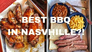 The BEST BBQ in Nashville? Alabama White Sauce Wings & Brisket at Martin's BBQ! DEVOUR POWER