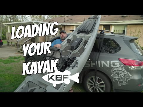 Hobie Pro Angler Kayak Roof Rack with a Rhino Side Loader ...